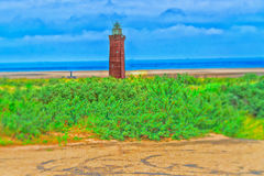 Dunes Panorama on the North Sea coast in Holland Stock Images