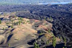 Dunes peintes en parc national volcanique de Lassen Photographie stock libre de droits