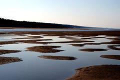 Dunes. Riga gulf near Lielupe river mouth on September stock photos