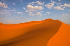 Dunes in the Sahara deformed by the wind, Morocco Stock Images