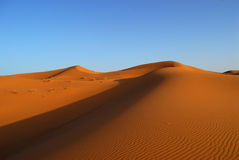 Dunes of Sahara Desert Royalty Free Stock Image