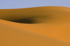 Dunes in Sahara desert, Morocco Royalty Free Stock Photos