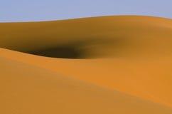 Dunes in Sahara desert, Morocco. Erg Chebbi sand dunes shape in the Sahara Desert Royalty Free Stock Photos