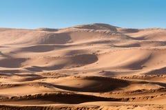 Dunes in the sahara desert Royalty Free Stock Photography