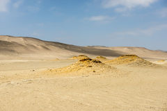 Dunes and sand in Paracas Royalty Free Stock Photography