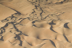 Dunes at the sceleton coast. Aerial view, Namibia, Africa royalty free stock photography