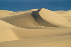 Dunes and sea Royalty Free Stock Photos