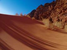 Dunes and shadow. Beautiful dune in the wadi rum in jordan Royalty Free Stock Photography