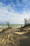 Dunes on shore of lake michigan. Stock Photography