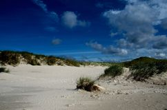 Dunes and sky Stock Images