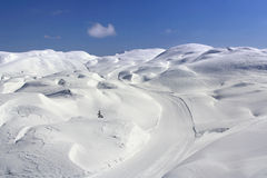 Dunes of snow Stock Photography