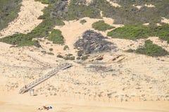 Dunes sur la plage Côte espagnole Image libre de droits