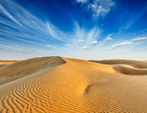 Dunes of Thar Desert, Rajasthan, India Stock Photo