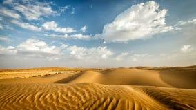 Dunes of Thar Desert, Rajasthan, India Stock Photos