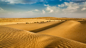 Dunes of Thar Desert, Rajasthan, India Royalty Free Stock Images