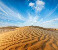 Dunes of Thar Desert, Rajasthan, India Stock Photography