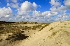 The dunes of The Touquet , France Stock Photo