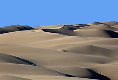 Sand Dunes. These dunes are in the very southeast corner of California, west of Yuma, Arizona, and right on the Mexican border.  This is one of the hottest and Stock Photo