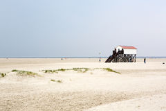 Dunes with white sand, North Sea, Germany Royalty Free Stock Photos