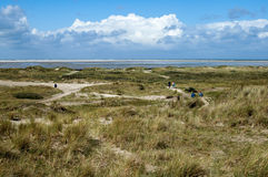 Dunescape on Borkum Island, Germany Stock Photography