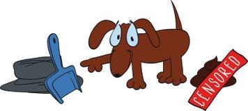 Dunette mignonne de chien illustration libre de droits