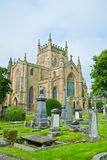Dunfermline Abbey Church. Ruins of Dunfermline Abbey Church, Scotland, United Kingdom with cimitery view Stock Photo