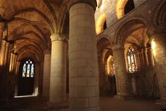 Dunfermline palace and abbey Stock Images