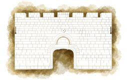 Dung Gate Jerusalem, Old city, Israel Royalty Free Stock Photo