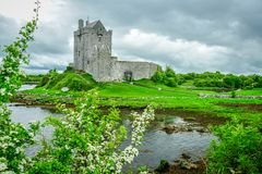 Dungaire Castle. 16th-century Dungaire Castle sits on the south side of Galway Bay near the town of Kinvara, County Galway, Ireland Stock Image
