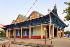Dungan moské i den Karakol staden, Kirgizistan royaltyfri fotografi