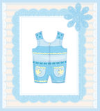 Dungarees for baby Royalty Free Stock Photos