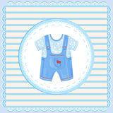 Dungarees for baby boy Royalty Free Stock Images