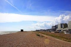 Dungeness核动力火车视图肯特英国 免版税图库摄影