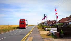Dungeness coastal road Lydd-on-Sea United Kingdom Royalty Free Stock Image