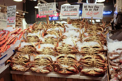 Free Dungeness Crab Display At Pike Place Market, SEattle Stock Images - 72773664