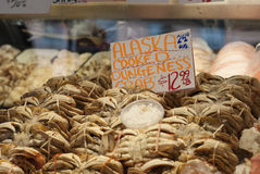 Dungeness Crabs in a fisherman market Stock Image