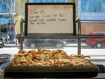 Dungeness crabs for sale at Fisherman's Wharf, San Francisco Stock Image