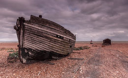 Dungeness hulk on the shingle Royalty Free Stock Images