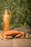 Dungeness krab przygotowywający gotować Obrazy Royalty Free