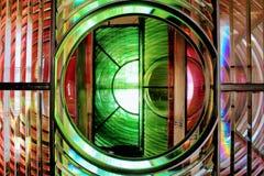Dungeness-Leuchtturm rot und Grün 2 Lizenzfreie Stockbilder