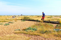 Dungeness nature reserve sightseers Kent United Kingdom Stock Photos