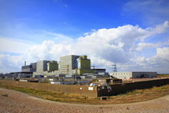 Dungeness Nuclear Power plant England. Dungeness nuclear power station on the Dungeness headland in the south east of Kent, England.The stations are built on the Royalty Free Stock Photo
