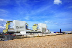 Dungeness Nuclear Power plant England. Dungeness nuclear power station on the Dungeness headland in the south east of Kent, England.The stations are built on the Royalty Free Stock Images