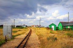 Dungeness railway track Kent England Stock Photos