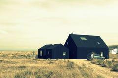 Dungeness rezerwata przyrody czerni budy Kent Anglia Obraz Royalty Free