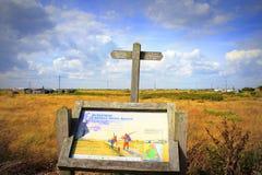 Dungeness rezerwata przyrody znak Kent Anglia Zdjęcie Stock