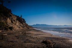Dungeness Shoreline. Shore at dungeness spit near Sequim Washington Stock Photo