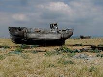 Dungeness-Strand mit Booten, Kent Lizenzfreie Stockbilder