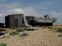 Dungeness-Strand mit Booten, Kent Stockbild