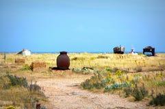 Dungeness strandsikt Kent United Kingdom Royaltyfri Bild
